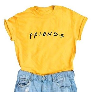 Tops - Yellow Cotton Friends Tee